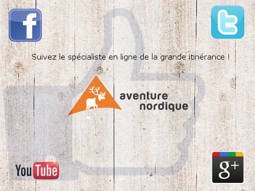 Aventure Nordique sur les réseaux sociaux