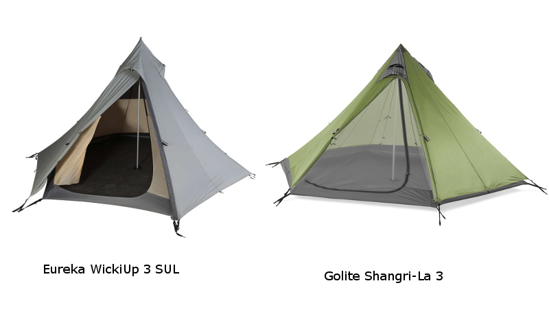 Comparatif tipis ultra léger Eureka WickiUp SUL et Golite ...