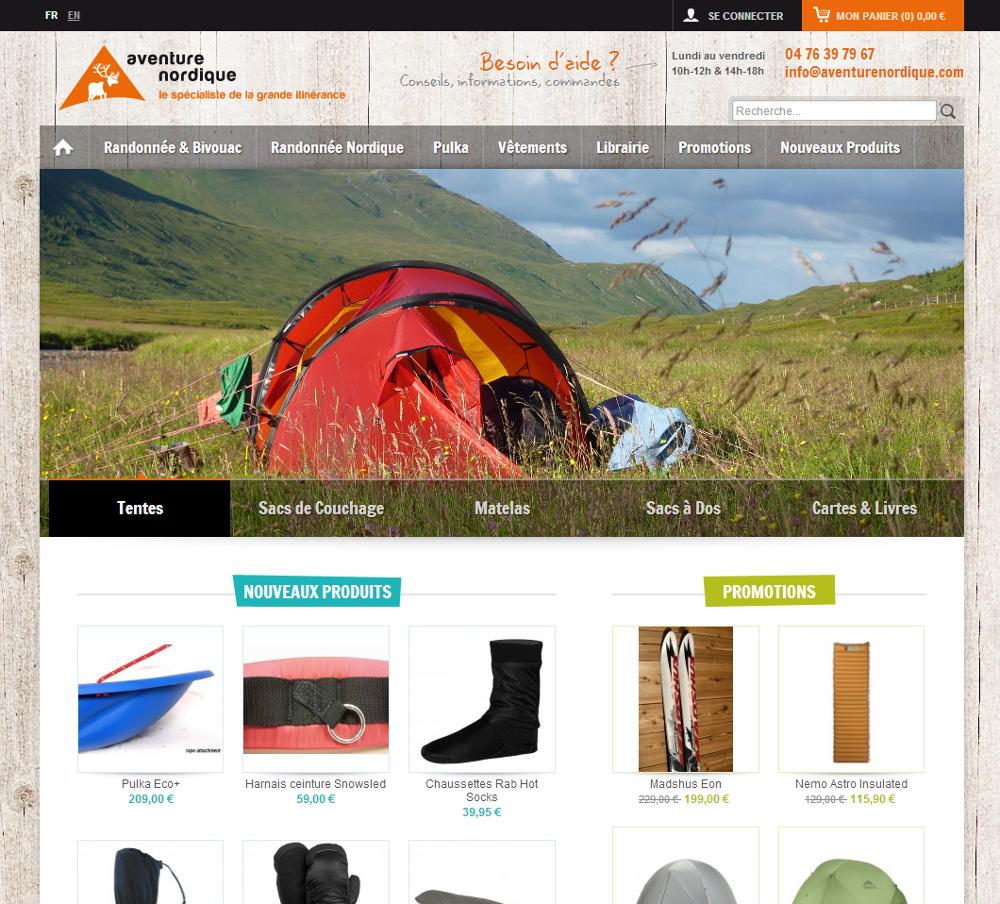 Nouveau site Aventure Nordique