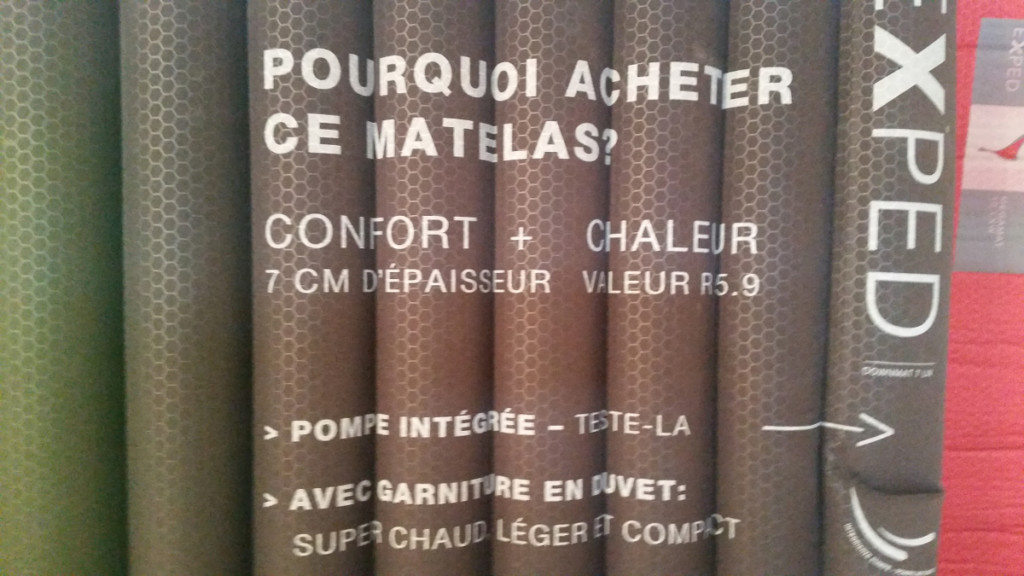 Comparatif et choix des matelas de randonn e exped - Matelas isolant thermique ...
