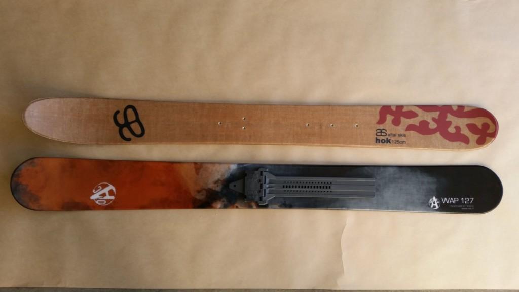 Skis Hok 125 et Wap 127