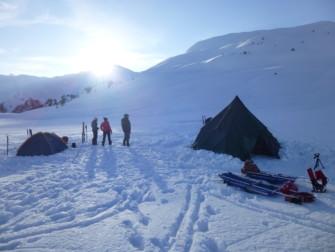 L'Aventure Nordique 2015 ; raid à ski et bivouac hivernal