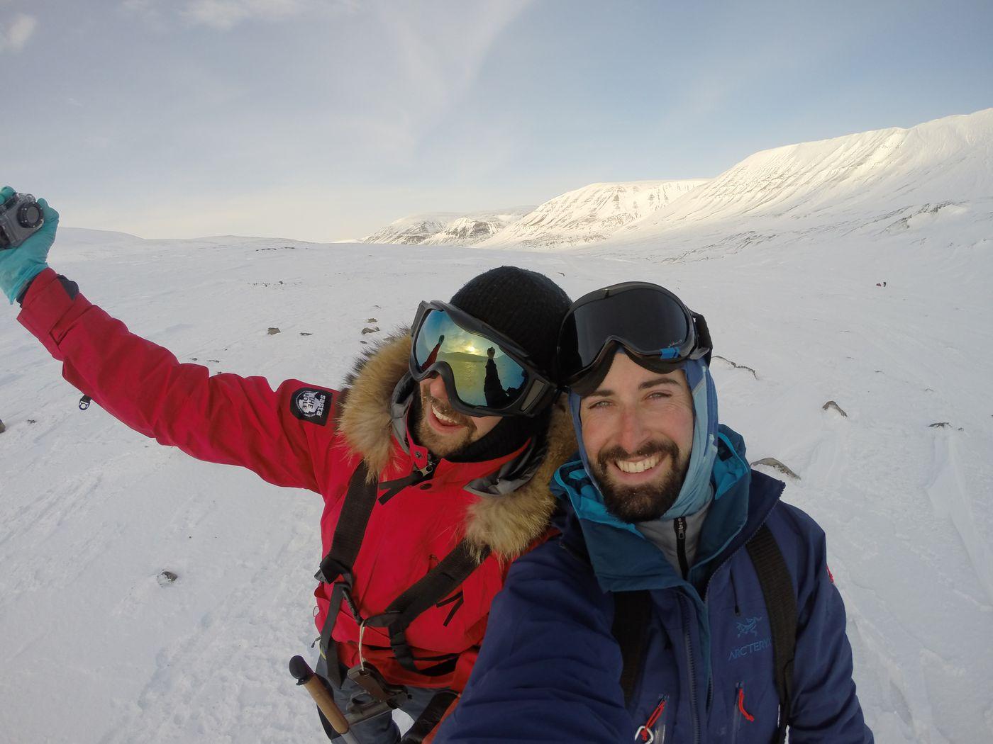 Le teamp Arctic 5 au Svalbard