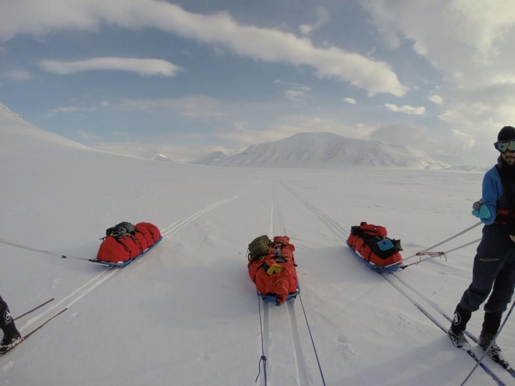 Les pulkas Snowsled au Spitzberg