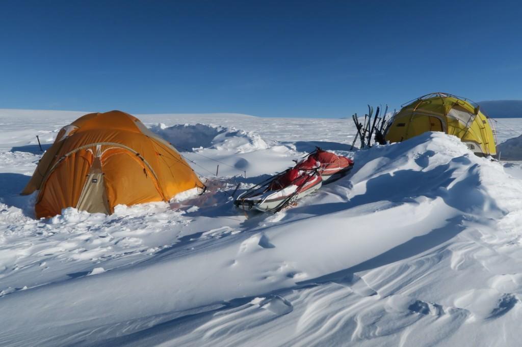 Camping hivernal au Spitzberg