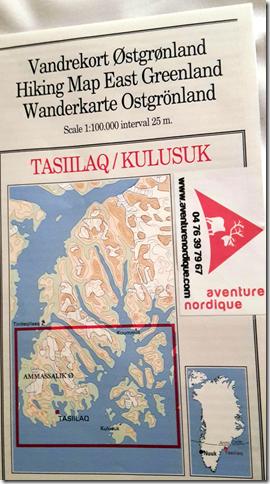 Carte n°6 Tasiilaq / Kulusuk
