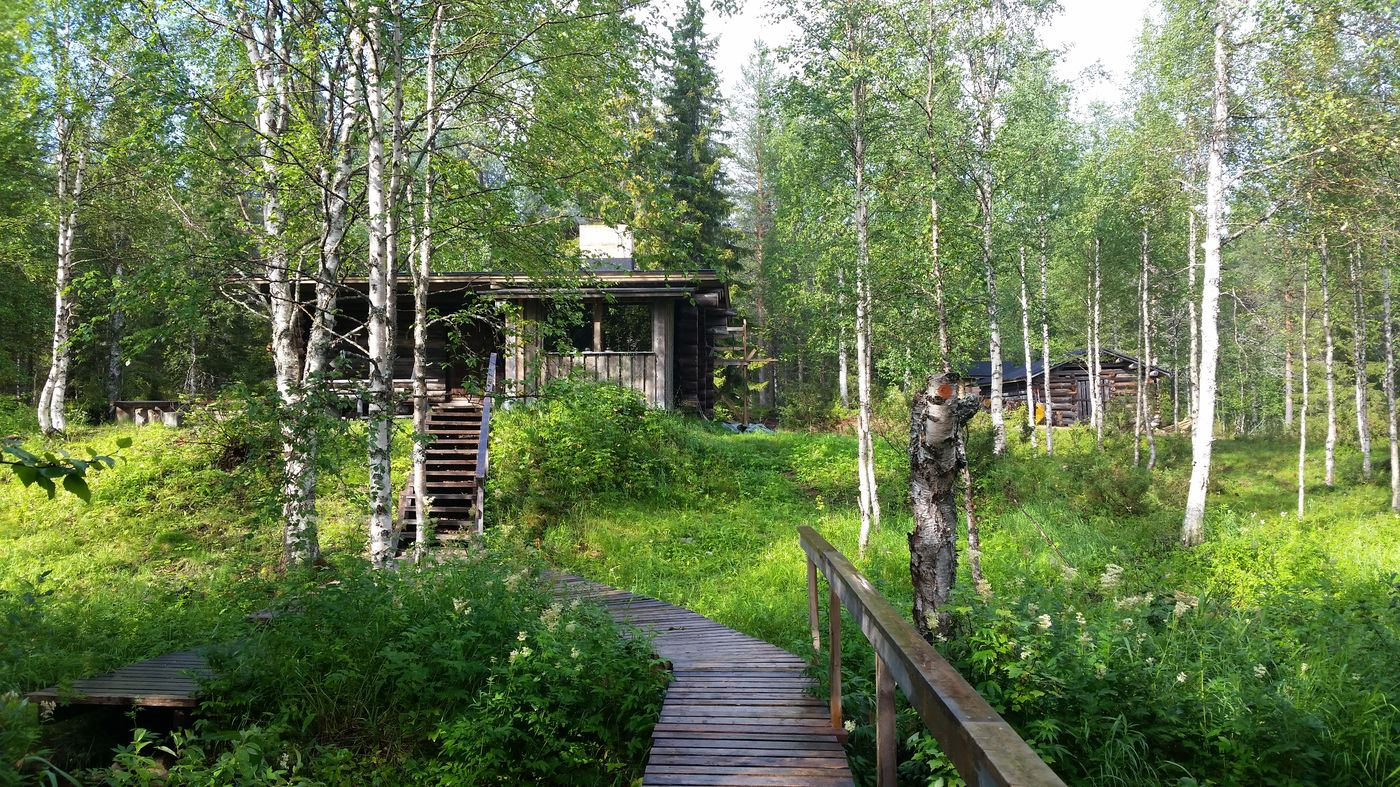 Refuge de Kuukkeli au cœur de la forêt