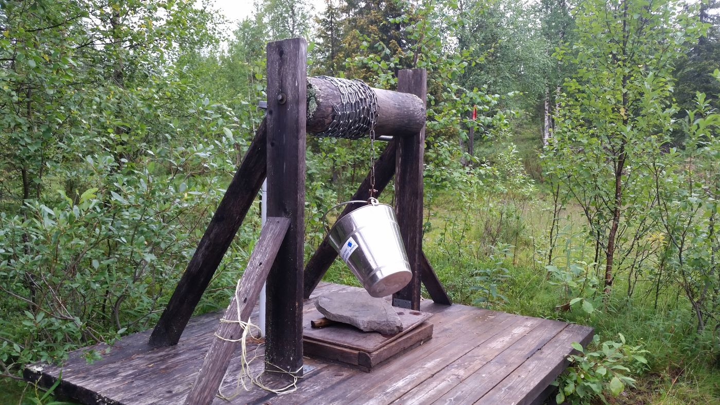 Un puit pour récupérer de l'eau potable
