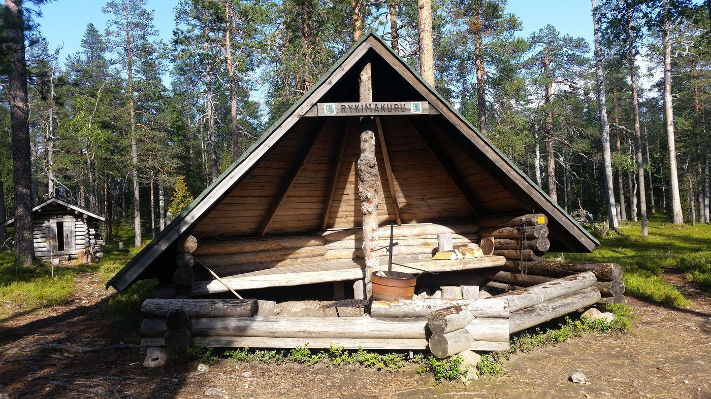 Lean-to-Shelters Rykimäkuru : endroit aménagé pour faire du feu