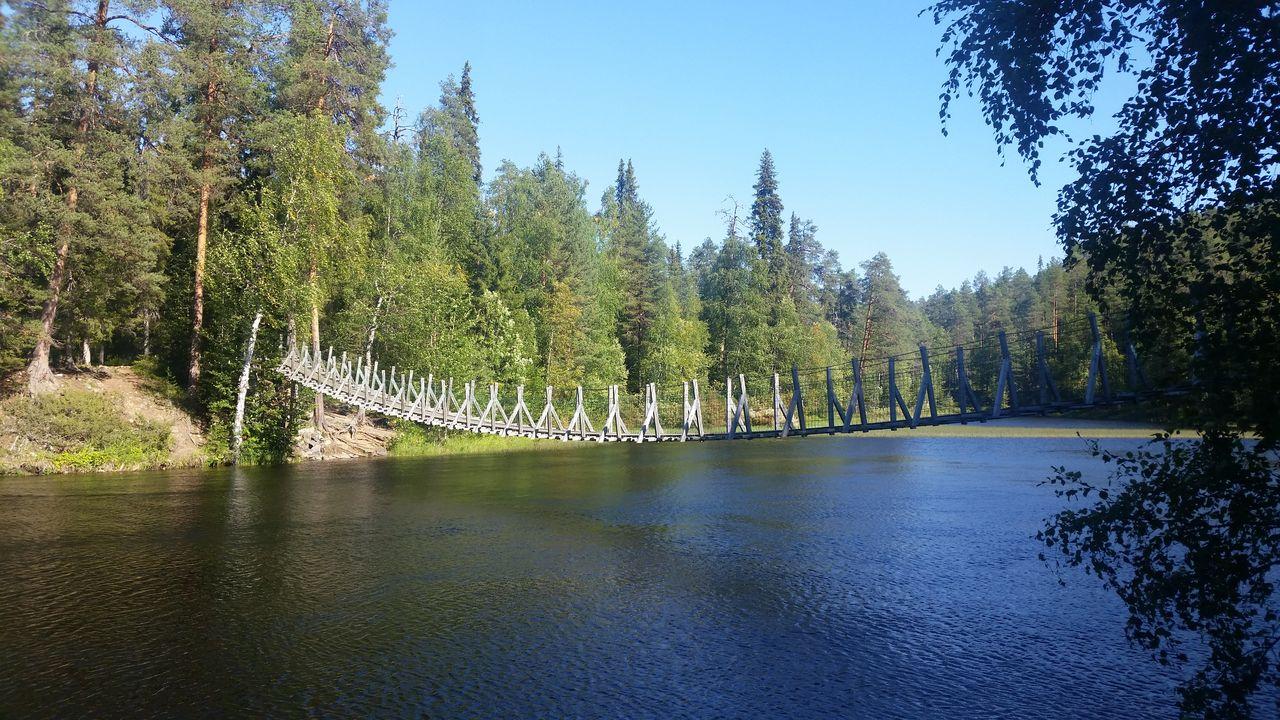 Pont suspendu sur le Pieni Karhunkierros