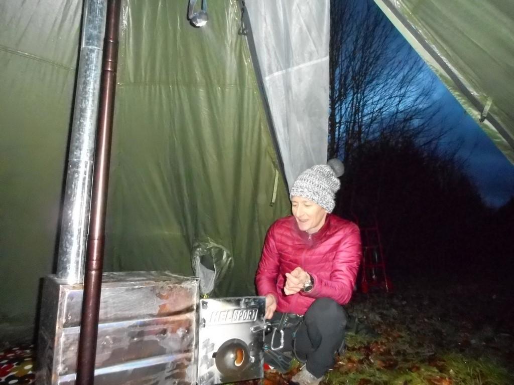 chauffe de la tente tchoum trottnature