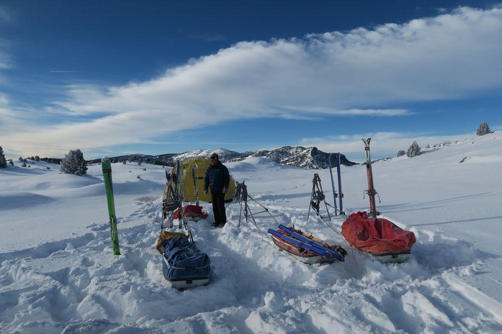 Camping d'hiver sur les plateaux du Sud Vercors