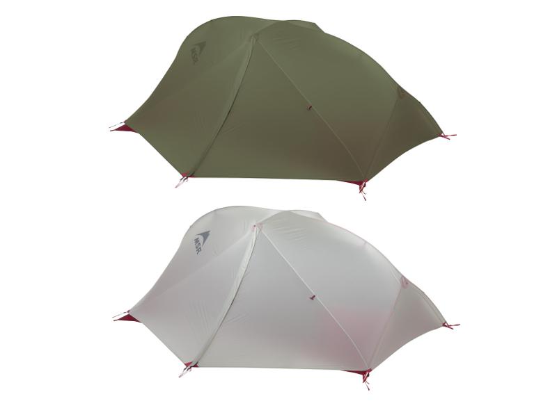 Tentes Freelite : coloris vert ou gris