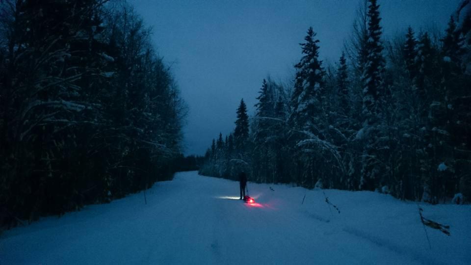 Photo postée par l'organisation sur les réseaux sociaux avec la légende : « N34 out of Norvajärvi! »