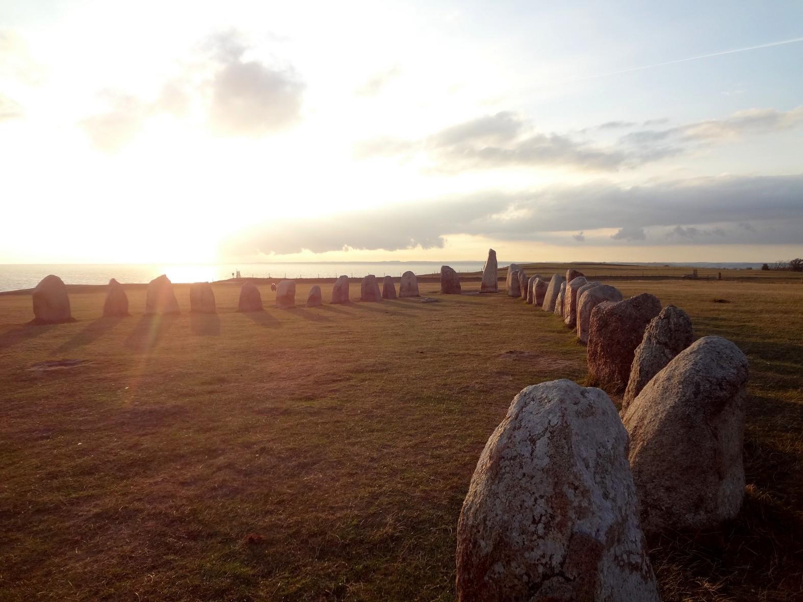 Coucher de soleil sur Ales stenar