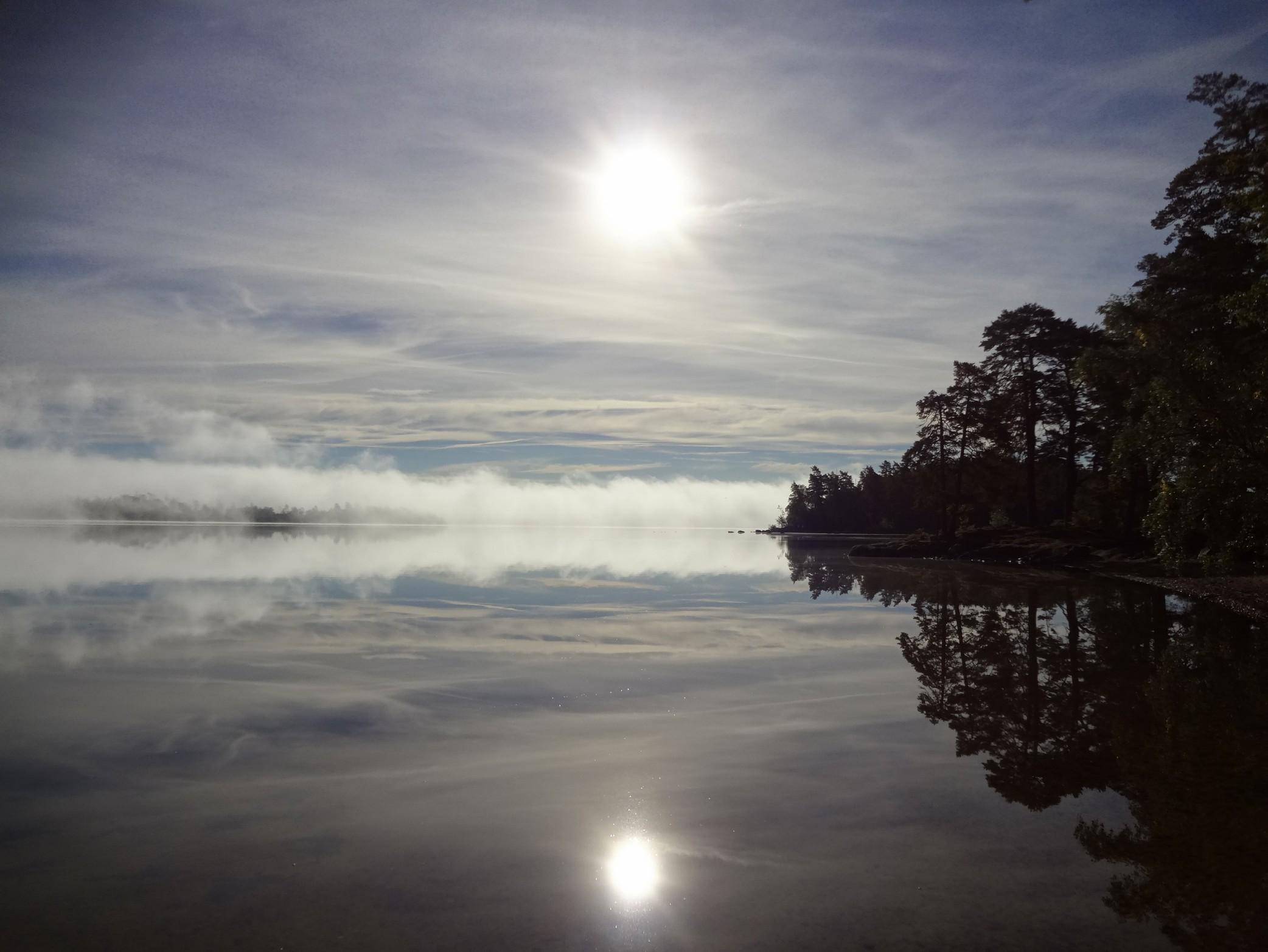 Lever du jour sur l'île d'Hissö
