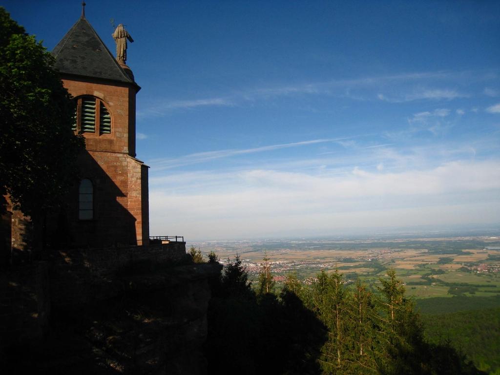 Vue sur la plaine d'Alsace depuis le Mont Saint Odile