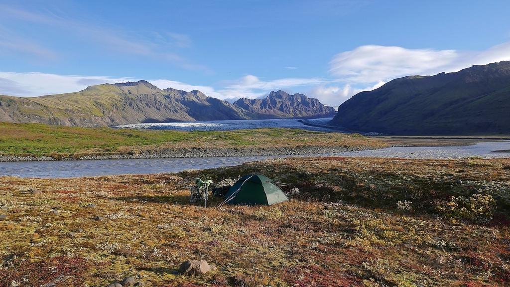 Campement à proximité du glacier Skaftafellsjökull