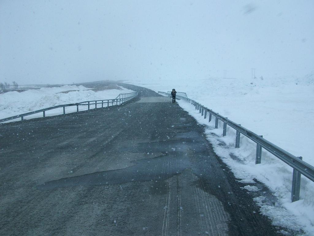Route 531 vers Mittadalen sous une météo de plus en plus rude.
