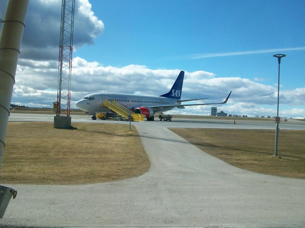 Le boeing 737 de SAS nous attend à Östersund pour nous ramener à la maison.