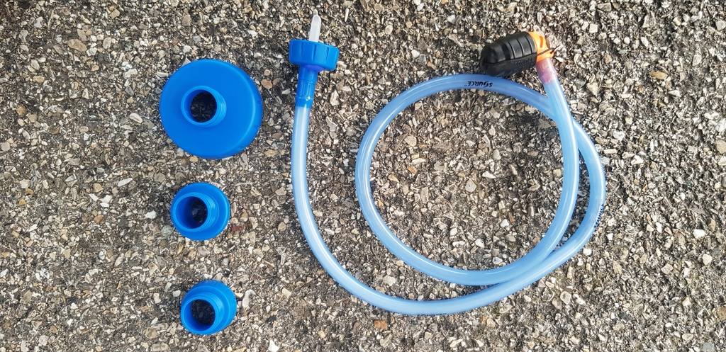 Le tube Source Convertube et les 4 adaptateurs