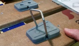 La cale de montée 58 mm mise en place
